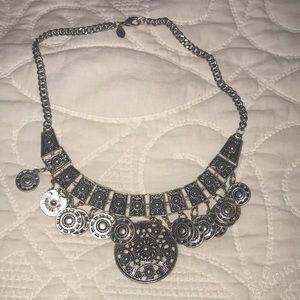Silver Aztec Necklace